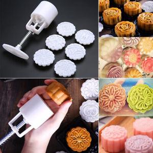 6-Timbre-Gateau-de-Lune-Emporte-Piece-Moule-Decoupe-Fleur-Patisserie-Mooncake