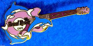 Puerto-Vallarta-Mexico-3-Bottlenose-Dauphins-Gibson-Guitare-Hard-Rock-Cafe-Pin