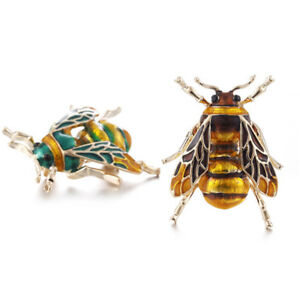 Vintage-Enamel-Bee-Brooch-Pin-Shirt-Animal-Metal-Pin-Clothing-Accessories-LTUS