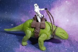 VINTAGE-Star-Wars-COMPLETE-DEWBACK-STORMTROOPER-ACTION-FIGURE-KENNER-reins