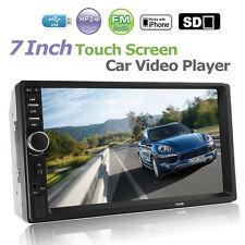 "7 "" 2DIN Autoradio MP5 MP3 Player Bluetooth Touchscreen Stereo FM Radio HD 12V @"