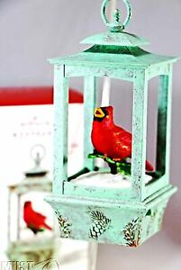 2015-Hallmark-Christmas-red-cardinal-magic-light-sound-Keepsake-Ornament-NEW-box