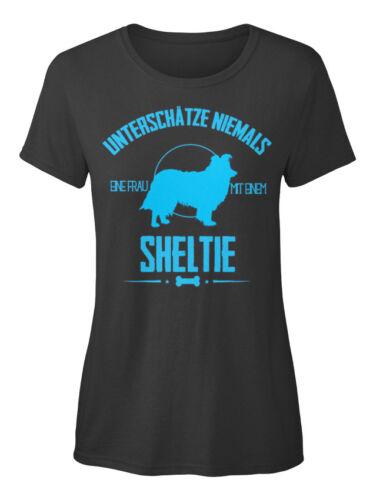 Hunde Frau Mit Einem Sheltie Stylisches T-Shirt Damen