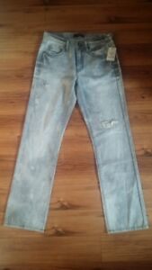 Guess jambe Nwt moyenne gris taille droite Distressed 29x32 taille Jeans Denim 4rBqxwF4