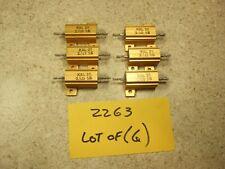 Lot Of 6 Kal 25 25 Ohm 5 25 Watt Aluminum Power Resistor New