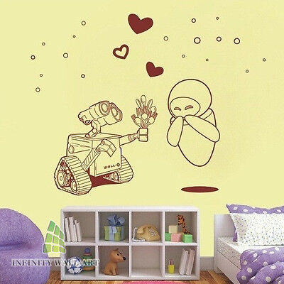 research.unir.net WALL-E Smashed Wall Decal Removable Wall Sticker ...