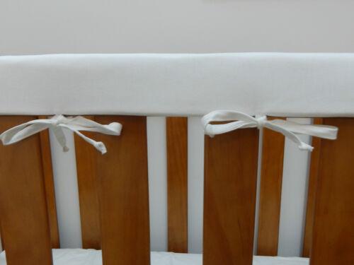 Cot Rail Cover White Crib Teething Pad SET OF TWO