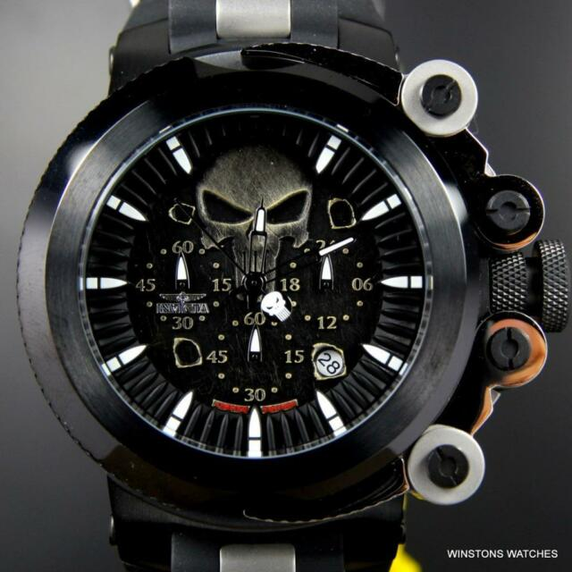 invicta marvel coalition forces trigger punisher black 56mm limited