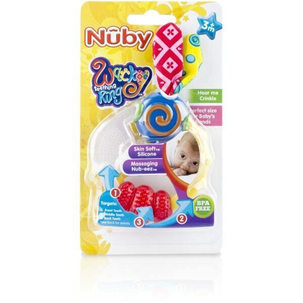 Brand New in Packaging Nuby Wacky Teething Ring 3+m