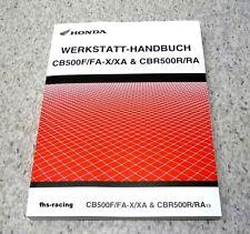 HONDA CB 500 F , X , CBR 500 R , PC 44 PC 45  PC 46  ab 2013 , Werkstatthandbuch