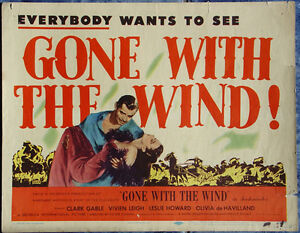 Gone with the Wind R1947 Original & Complete Movie Lobby ...
