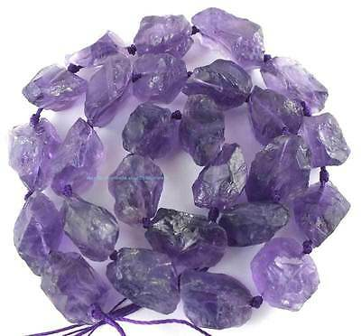 12-16mm Natural Amethyst Rough Freeform Beads 16''