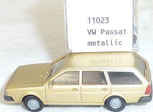 Vw-passat-BJ-1981-Gold-Metallic-Mesureur-EUROMODELL-11023-h0-1-87-OVP-1-ga-5-a