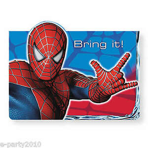 Image Is Loading SPIDER MAN 3 INVITATIONS 8 Super Hero Birthday