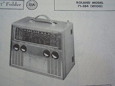 SILVERTONE MODEL 5227 SHORTWAVE MULTI BAND SW RADIO PHOTOFACT