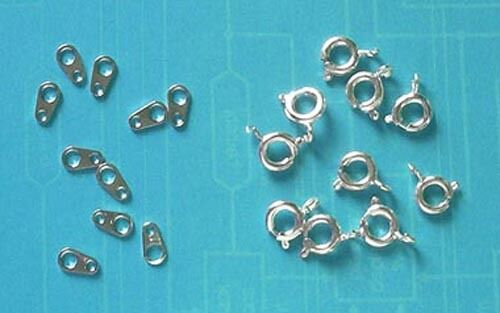 resultados para la fabricación de joyas Artesanías 20 Anillos De Plata Chapado 6mm Perno con las etiquetas