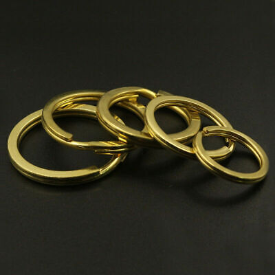 20pcs 15-35mm Solid Pure Brass Split Key Round Rings For DIY Decor BR Ship