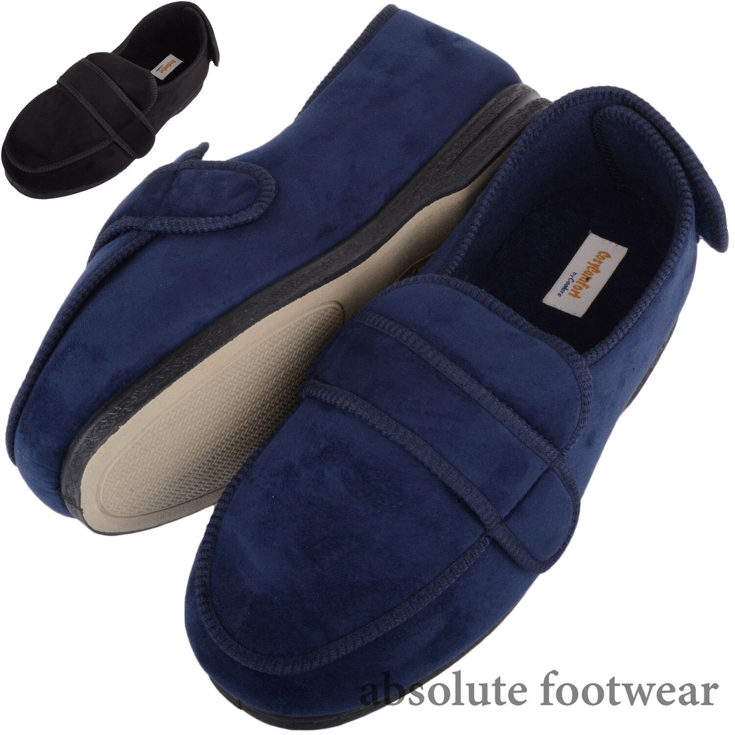 Mr/Ms Mens / Gents Slippers Microsuede EEE Wide Fitting Slippers Gents / Boots with Ripper Fastening Customer first Skilled manufacturing International big name NN1189 d57e87