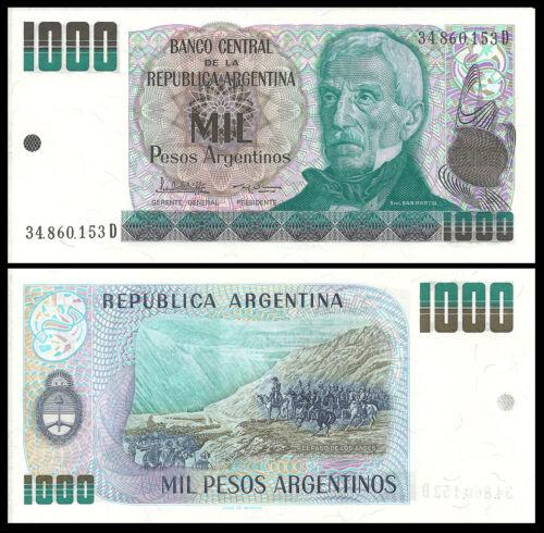 ARGENTINA 1000 PESOS ND 1983-85 P 317 UNC