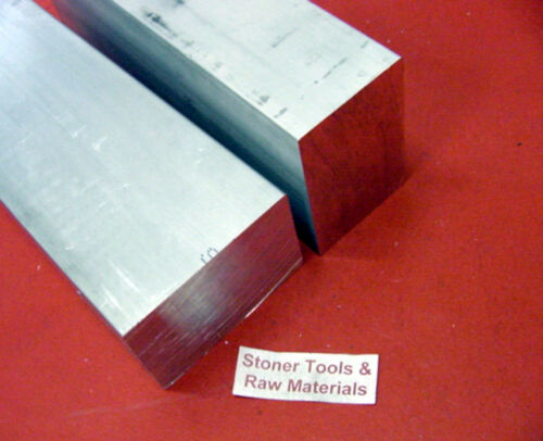 "2 Pieces 2/"" X 3/"" ALUMINUM 6061 SOLID FLAT BAR 6/"" long T6 Plate Mill Stock 2.0x3."