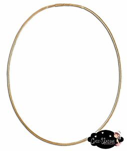 New-3mm-Gold-Round-20-034-Pop-Bead-Clasp-Round-Omega-Choker-Necklace-Chain-CP6