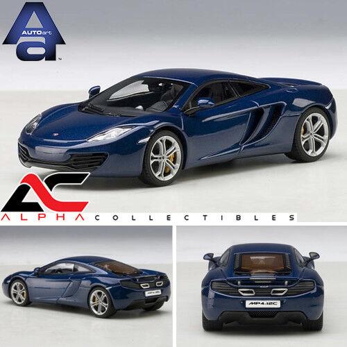 increíbles descuentos Autoart 56004 1 43 Mclaren Mp4-12c (Azure azul) súpercoche Modelo Modelo Modelo Diecast Coche  más descuento