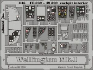 Eduard 1/48 Wellington Mk. I Cockpit Interior Pré-peint En Colo-afficher Le Titre D'origine Renforcement De La Taille Et Des Nerfs