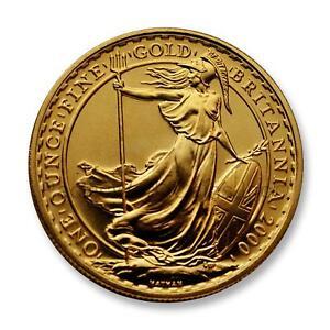 Great Britain 2000 Britannia 100 Pounds 1 oz Gold  SKU#7408
