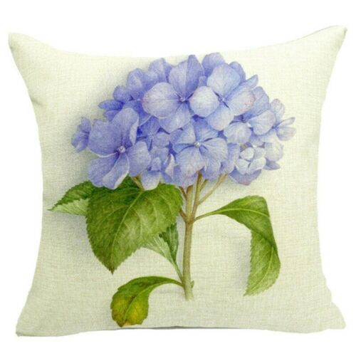Floral Print Pillowcase Cover Sofa Couch Cushion Cover Home Decor Gift