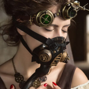 image is loading steampunk gas mask women cosplay halloween costume accessories