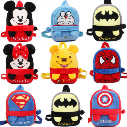 UK Toddler Baby Boy Girl Cartoon Plush Mini Satchel Backpack Rucksack School Bag