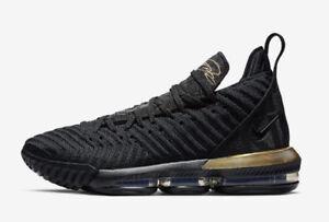 4a2207b70e050d Nike LeBron 16 I m King Black Metallic Gold BQ5970-007 Mens and Kids ...
