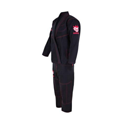 New Shogun Jujitsu Edition Pro Kimono Samuri Rib Stop Gi Black Uniforms BJJ