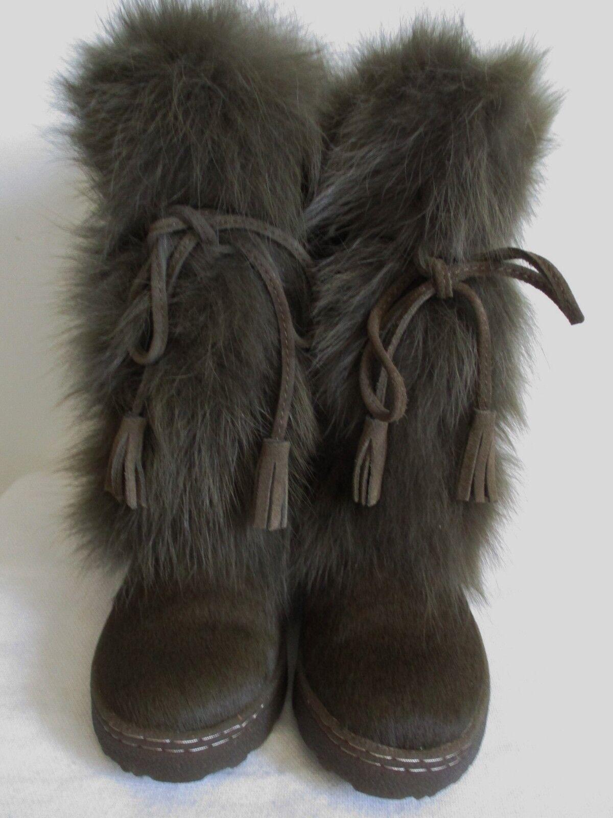 Bearpaw Shako II botas marrón de piel de zorro de Piel de Oveja mitad de la pantorrilla EE. UU. Mujer
