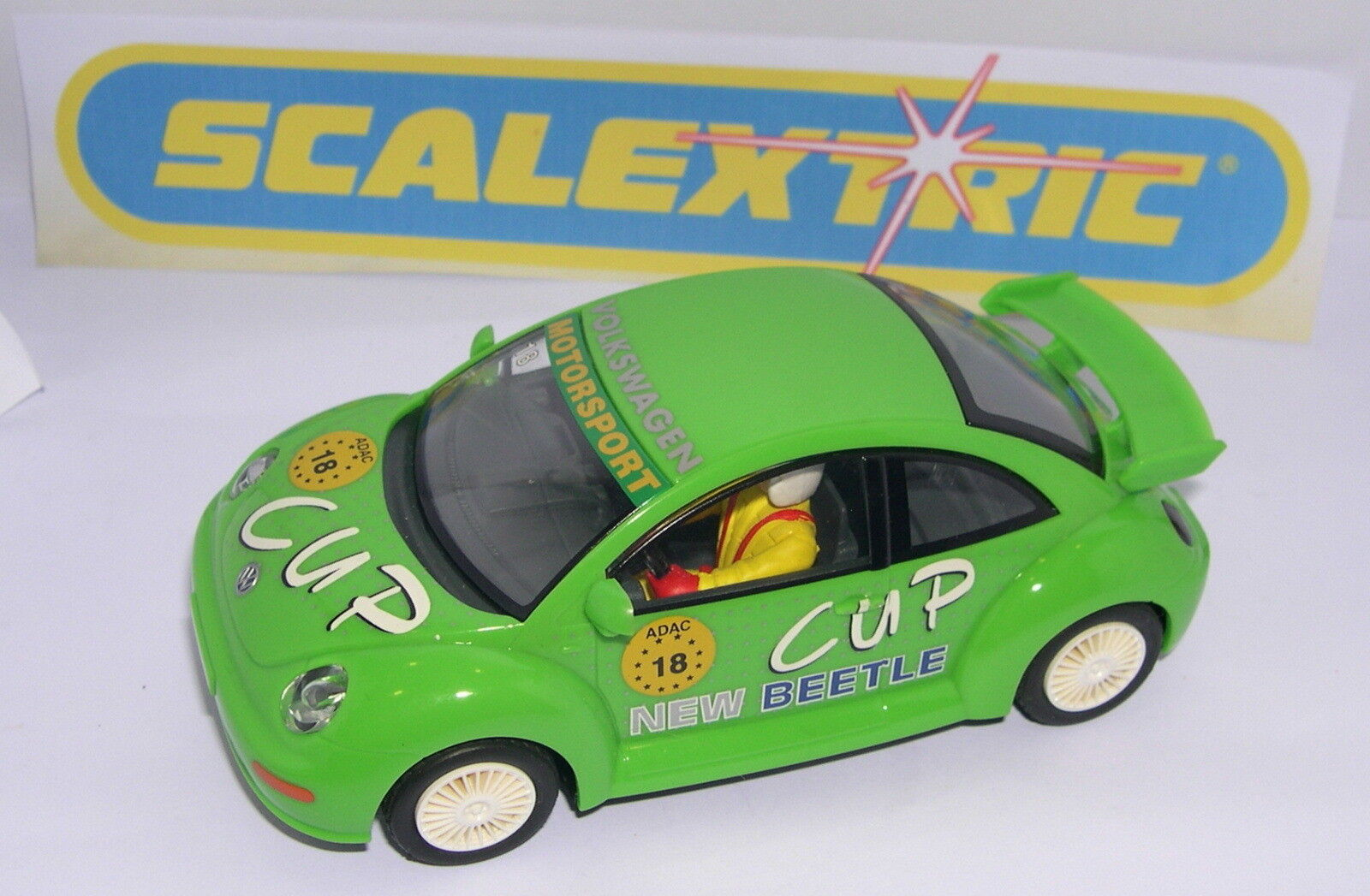 SCALEXTRIC C-2299W VOLKSWAGEN BEETLE CUP  18 ONLY SET C-1051 MINT UNBOXED