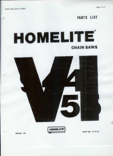 Copy A HOMELITE Chainsaw Parts List /& Repair Dia VI 944 /& VI 955