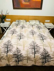 Bettwaesche-2tlg-Bettbezug-Bettgarnitur-Kissenbezug-aus-100-Baumwolle-in-2-Massen