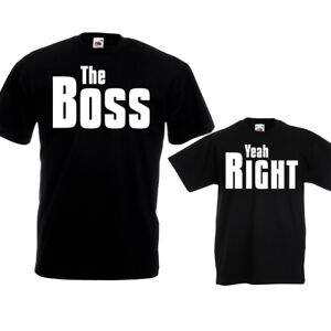 decb0ada The Boss Yeah Right T Shirts Funny Dad Kids Fathers Day Birthday ...