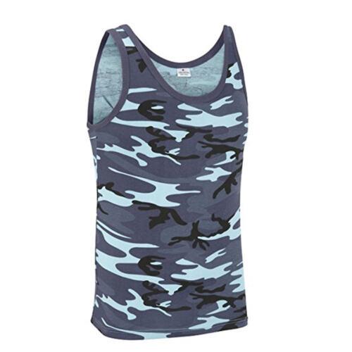 ARMY VEST COMBAT MEN TANK TOP MILITARY FANCY DRESS SLEEVELESS MIDNIGHT BLUE CAMO