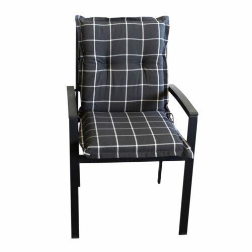 Polsterauflage Sitzauflage Niedriglehner /'Panama/' 100x50cm kariert Schwarz-Weiß