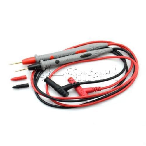 1Pair Universal Digital Multimeter 1000V 20A Test Lead Probe Cable NeedleTip Pen