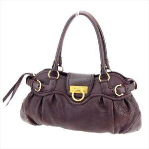 Image is loading Salvatore-Ferragamo-Tote-bag-Ganchini-Brown-leather-Woman- 5137ec88af0ac