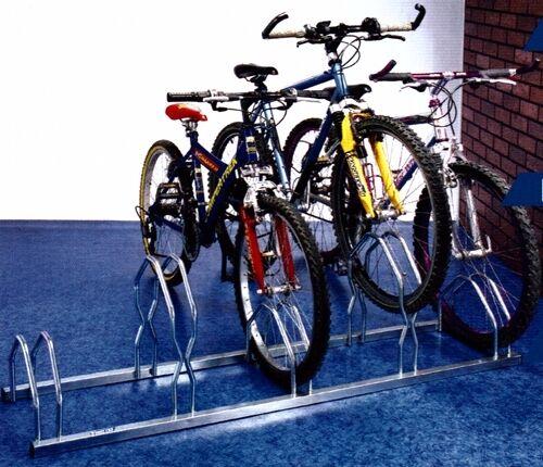 Estante 5 Bicicletas Suelo en 2 Niveles