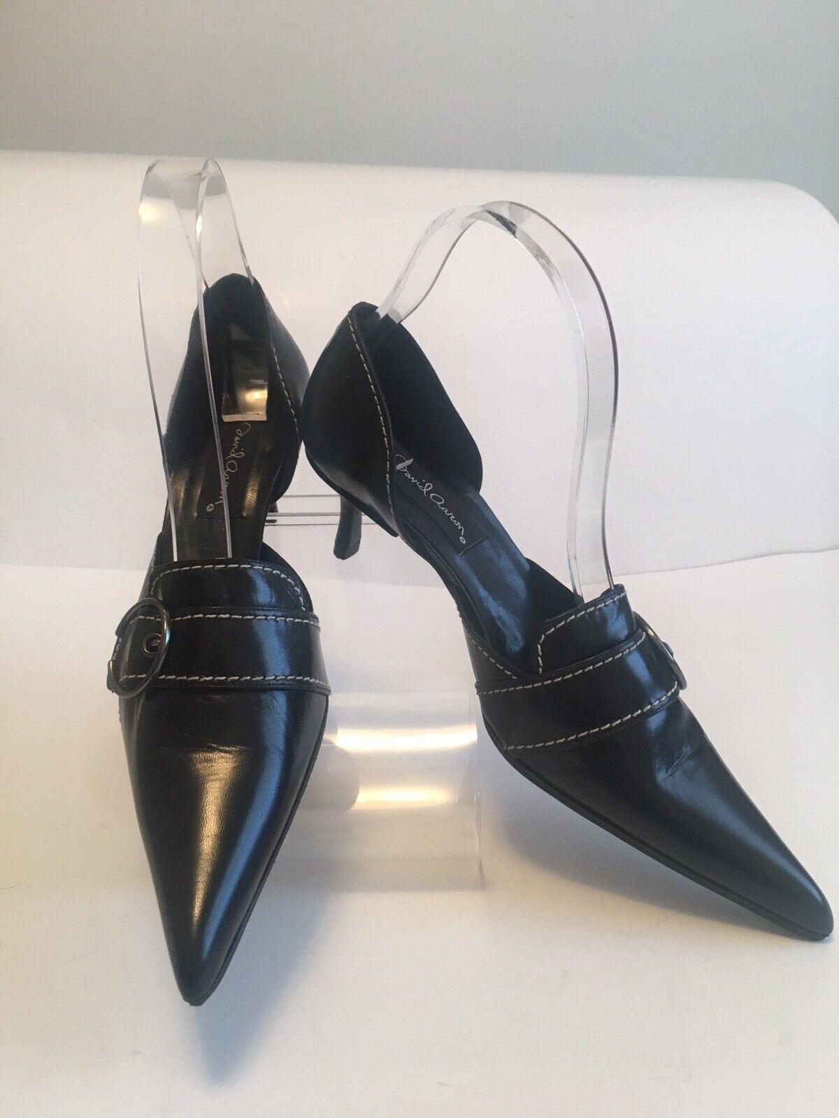 sconto di vendita David Aaron nero Leather Kitten Heel scarpe US Sz 8M 8M 8M  salutare