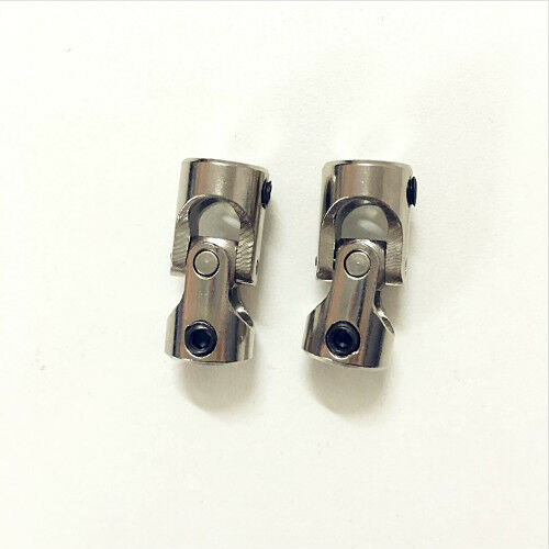 2x Universal RC Stainless Steel Joint Coupling R//C Model Parts 6mm-4mm