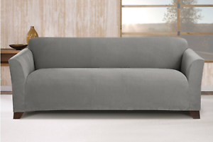 Stretch Maya Sofa Slipcover Gray Sure Fit