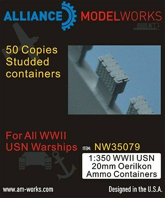 Alliance Model Works 1:350 WWII USN 20mm Oerlikon Ammo Containers #NW35079