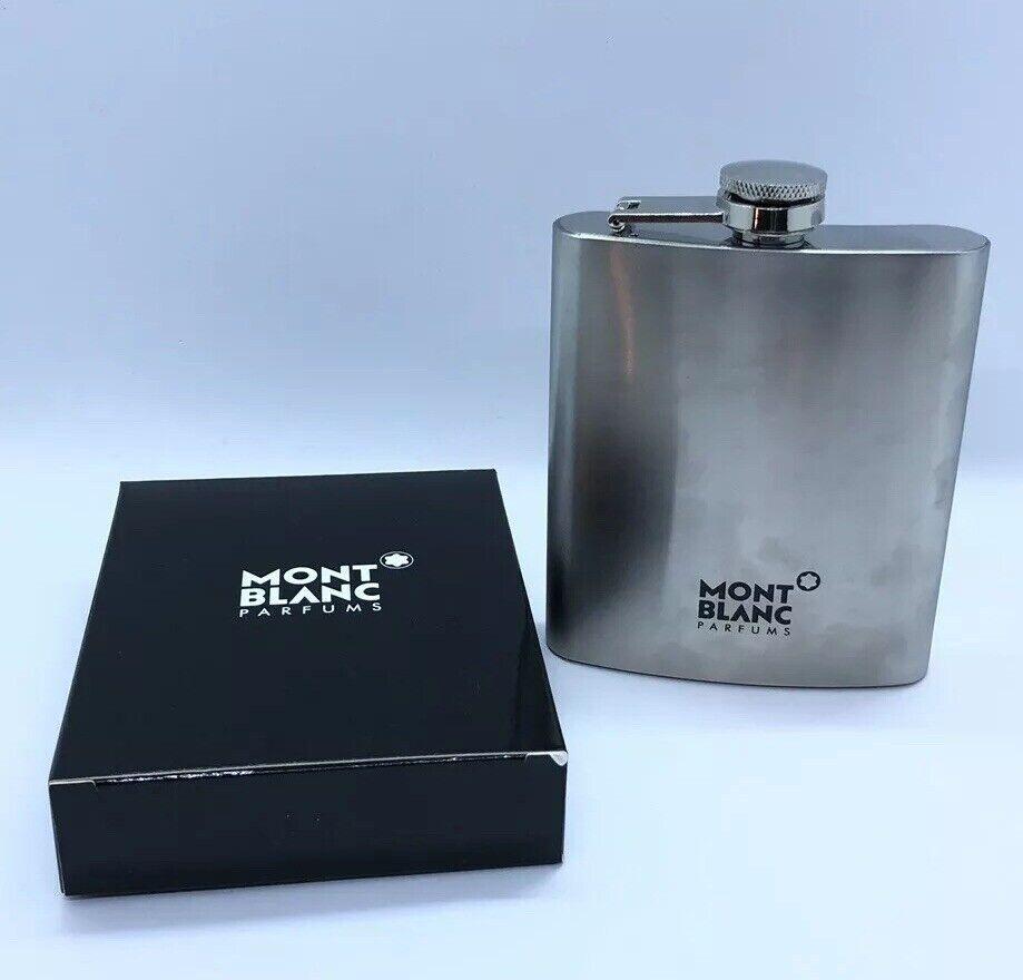 Mont Blanc Parfums en acier inoxydable Flacon Voyage Bouteille Argent Léger 7 oz (environ 198.44 g)