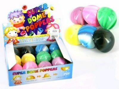 GLITTER DOME POPPER 32MM 1 PC ASSORTED COLOURS SUPER POP BALL PUSH FLY NOVELTY