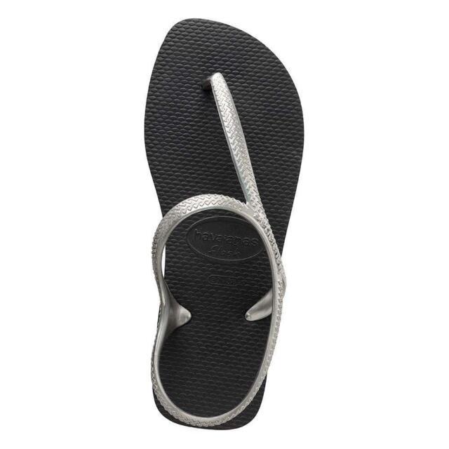 83e976c25 Havaianas Flash Urban Sandals Black Silver Havaianas Sandals   Beach Shoes